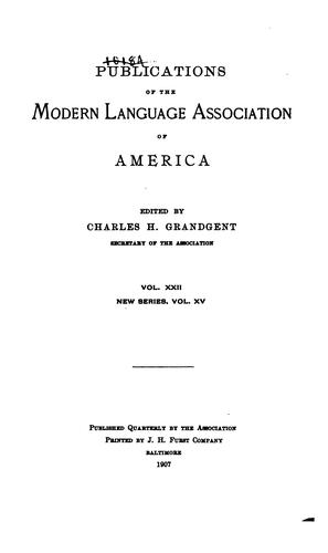 Publications of the Modern Language Association of America