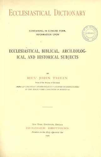 Ecclesiastical dictionary