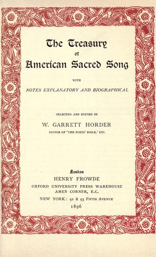 The treasury of American sacred song