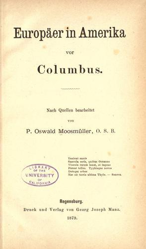 Europäer in Amerika vor Columbus.