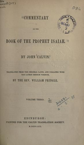Download Commentary on the book of the Prophet Isaiah