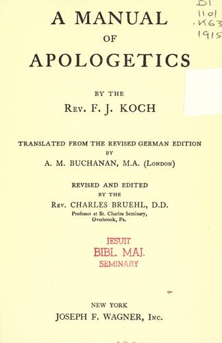 A manual of apologetics