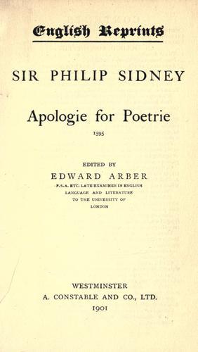 Apologie for poetrie, 1595.