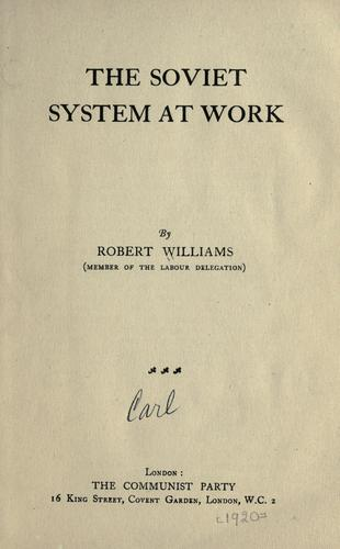 Download The soviet system at work