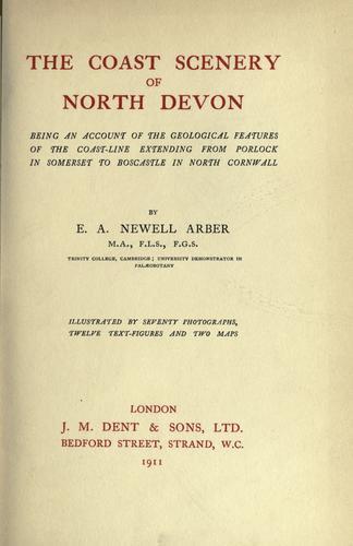 Download The coast scenery of north Devon