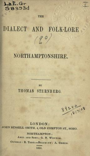 Download The dialect and folk-lore of Northamptonshire.