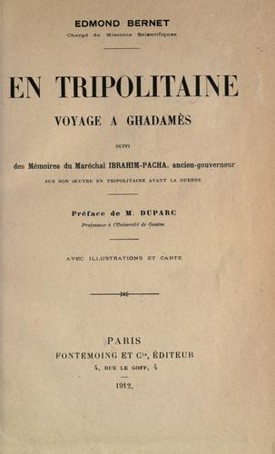 Download En Tripolitaine.
