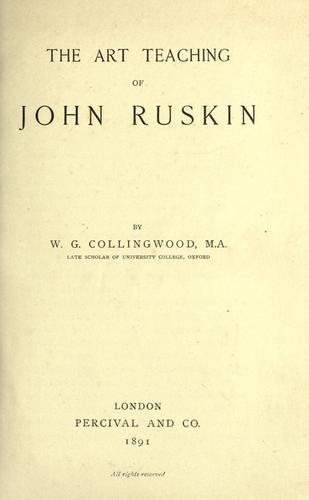 The art teaching of John Ruskin