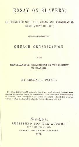 Download Essay on slavery