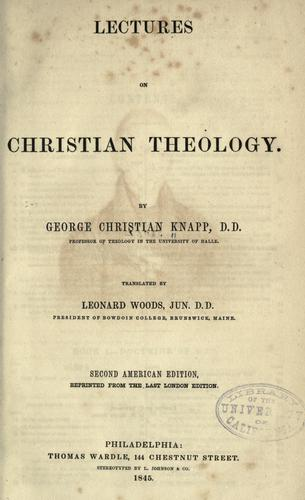 Download Lectures on Christian theology.