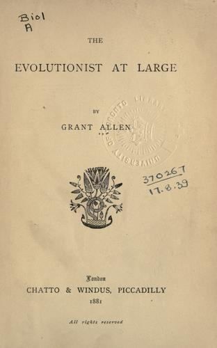 The evolutionist at large.