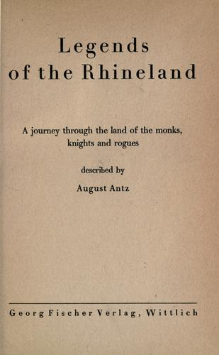 Legends of the Rhineland