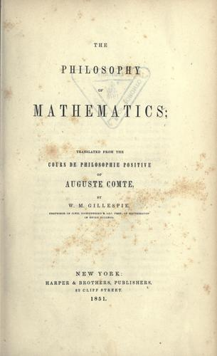 Download The philosophy of mathematics