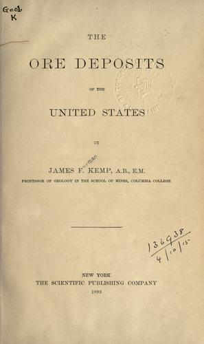 Download The ore deposits of the United States