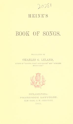 Download Heine's Book of songs.