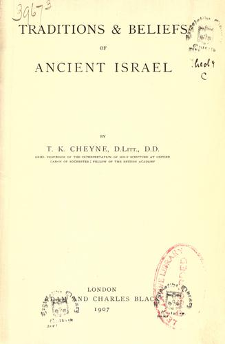 Download Traditions & beliefs of ancient Israel