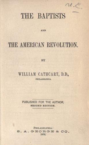 The Baptists and the American revolution.