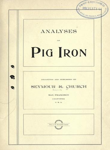 Download Analyses of pig iron.