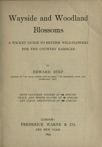 Download Wayside and woodland blossoms
