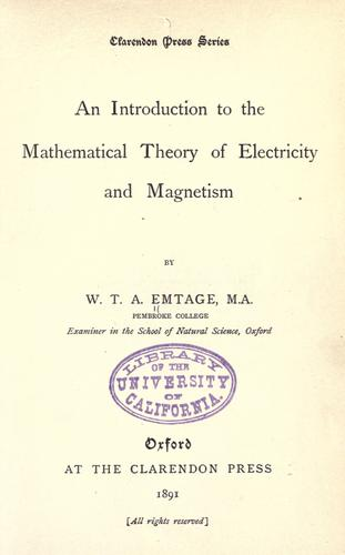 Download An introduction to the mathematical theory of electricity and magnetism