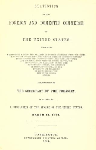 Download Statistics of the foreign and domestic commerce of the United States