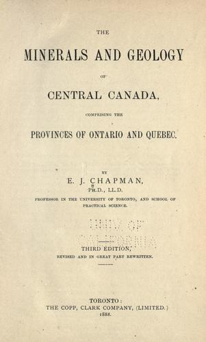 Download The minerals and geology of central Canada