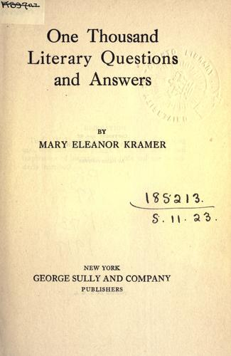 Download One thousand literary questions and answers