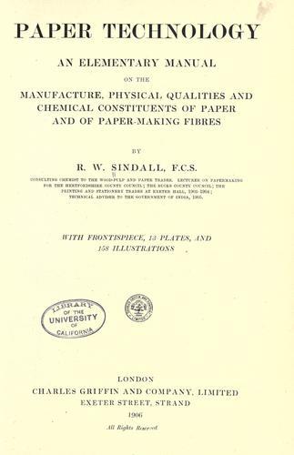 Paper technology