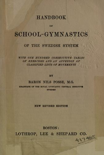 Handbook of school-gymnastics of the Swedish system.