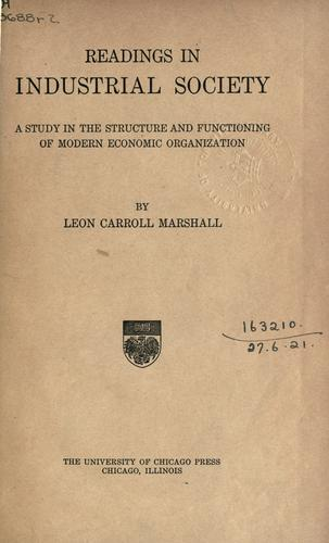 Download Readings in industrial society