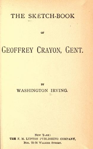 Download The sketch-book of Geoffrey Crayon, Gent.