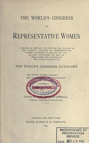 Download The World's Congress of Representative Women