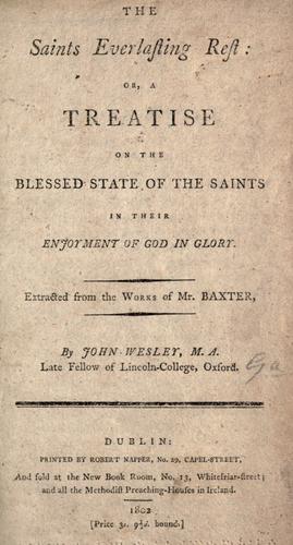 Download The saints everlasting rest