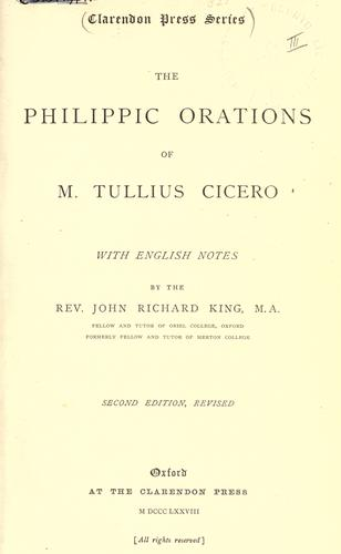 The Philippic orations.