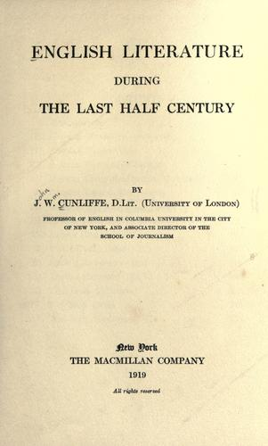 English literature during the last half century