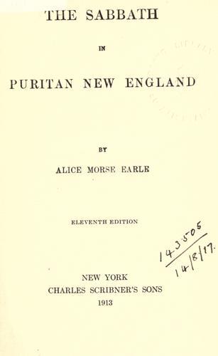 Download The Sabbath in Puritan New England.