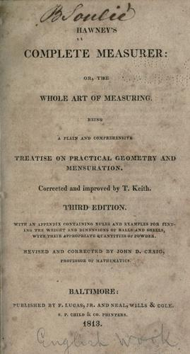 Download Hawney's Complete measurer, or, The whole art of measuring