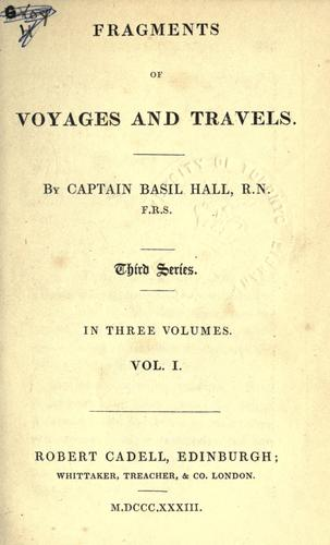 Fragments of voyages and travels.