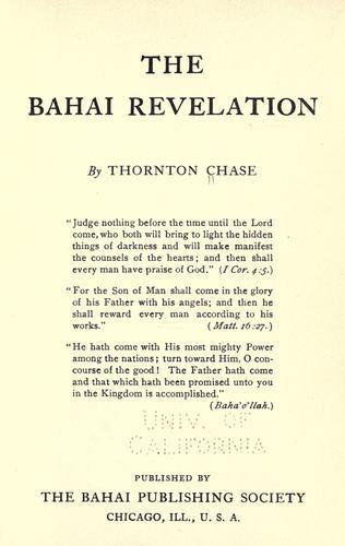 Bahai revelation.
