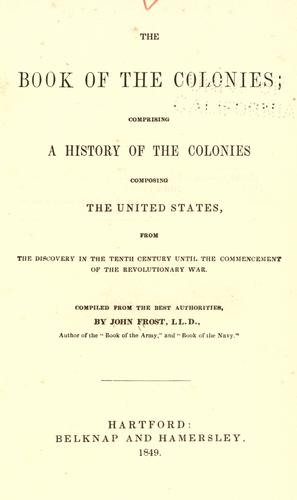 The book of the colonies