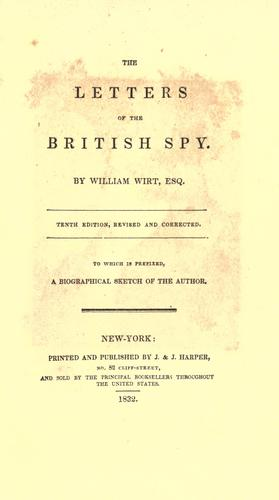 Download The letters of the British spy.
