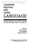 Download Learning, keeping, and using language