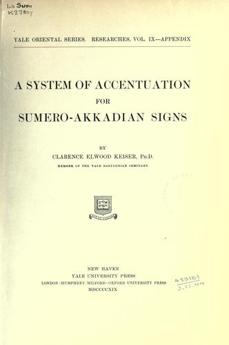 A system of accentuation for Sumero-Akkadian signs