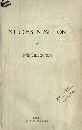 Studies in Milton.