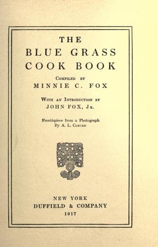 The blue grass cook book.
