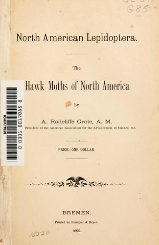The hawk moths of North America.