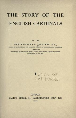 Download The story of the English cardinals