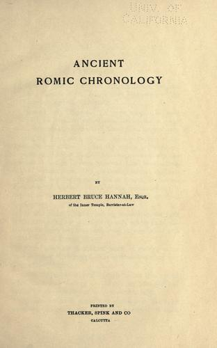 Download Ancient Romic chronology.