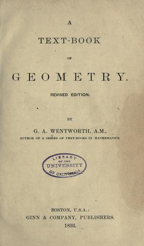 A text-book of geometry.