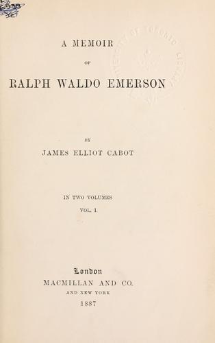 A memoir of Ralph Waldo Emerson.